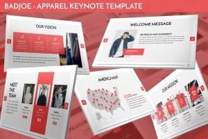 服装主题Keynote演讲幻灯片模板下载 Badjoe – Apparel Keynote Template插图1