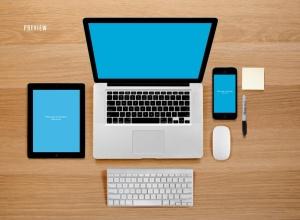 响应式网页设计预览样机套件 Responsive Mock-Up Web Display Kit插图11