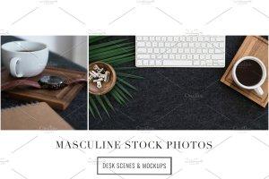 iPad办公场景样机模板 Masculine Stock Photos + iPad Mockup插图3