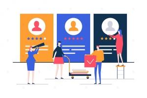 人力资源管理主题扁平设计风格矢量插画 HR management – flat design style illustration插图1
