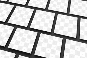 方形UI设计效果透视图等距样机模板02 Square Perspective Mockup 02插图7