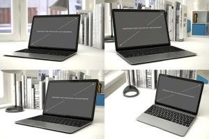 12款Macbook笔记本电脑设备样机 Laptop Mockup – 12 Poses插图2
