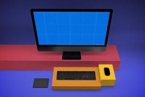 一体机电脑iMac Pro屏幕演示样机模板v2 iMac Pro Mockup V.2插图11