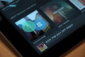 平板APP应用界面设计演示样机模板 Black iPad Tablet App UI Mock-Up插图13