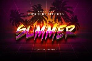 80年代文本图层样式 80s Text Effects插图4