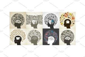 24个抽象头脑风暴插图集 Circle a head插图4
