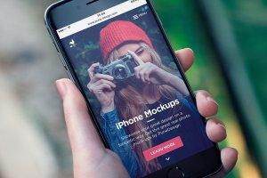 男模特手持iPhone样机模板 iPhone Mock-Up Set插图10