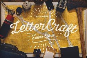 手工绘制效果图层样式合集 LetterCraft – Hand Lettering Kit插图1