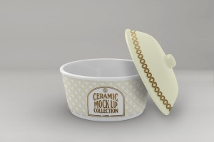 浮雕陶瓷餐具样机模板 Ceramic Pot Packaging MockUp插图8