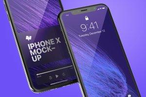 iPhone X手机应用UI界面预览样机01 iPhone X Mockup 01插图4