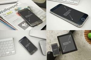 11个逼真的iphone设备样机模板 Phone Mockup – 11 Poses插图3