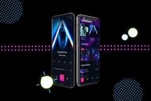 高质量霓虹灯风格iOS/Android手机样机模板 Neon IOS & Android插图3