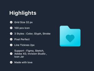 一流设计素材网下午茶:Web&App文件夹SVG一流设计素材网精选图标素材插图(6)
