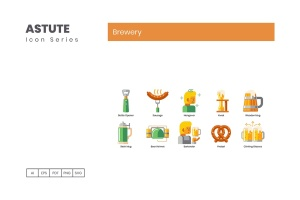 Astute系列-70枚啤酒主题矢量一流设计素材网精选图标 Brewery Icons – Astute Series插图5