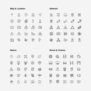 2120枚网站&APP设计师必备的矢量线性一流设计素材网精选图标集 Ultimate Icons Growing Pack插图13