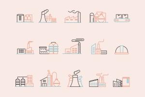 15枚工厂/工业生产主题矢量一流设计素材网精选图标 15 Factory Icons插图2