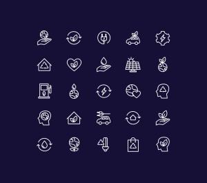 能源&生态主题矢量线性一流设计素材网精选图标 Energy Source & Ecology Icons插图(2)