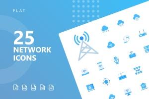 网络科技主题扁平化矢量一流设计素材网精选图标 Network Flat Icons插图1