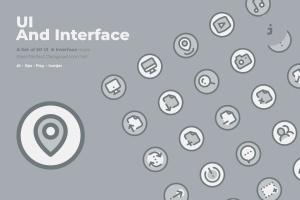 50枚UI用户界面主题双色调矢量一流设计素材网精选图标 50 UI And Interface Icons  –  Two Tone Style插图1