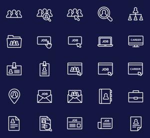 工作&职业主题矢量线性一流设计素材网精选图标 Jobs and Careers Vector Icons插图(2)