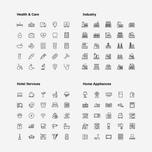 2120枚网站&APP设计师必备的矢量线性一流设计素材网精选图标集 Ultimate Icons Growing Pack插图16