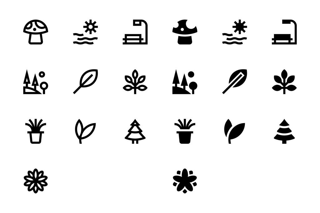 20枚自然主题SVG矢量一流设计素材网精选图标#3 20 Nature Icons #3插图