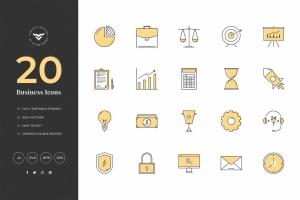 20款创意商业主题矢量一流设计素材网精选图标素材 Creative Business Icons插图2