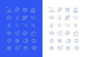太空探索主题矢量一流设计素材网精选图标素材 space vector icon set插图2