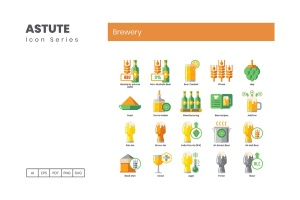 Astute系列-70枚啤酒主题矢量一流设计素材网精选图标 Brewery Icons – Astute Series插图4