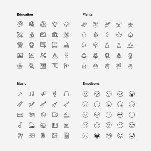 2120枚网站&APP设计师必备的矢量线性一流设计素材网精选图标集 Ultimate Icons Growing Pack插图4