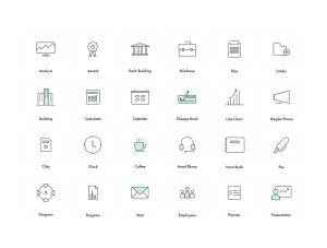一流设计素材网下午茶:商业主题简约风格线条矢量一流设计素材网精选图标合集插图(6)