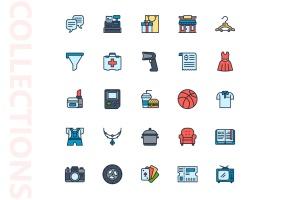25枚网上购物电子商务矢量填充色一流设计素材网精选图标v2 Shopping E-Commerce Filled Icons插图(4)