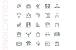 25枚网上购物电子商务矢量线性一流设计素材网精选图标v2 Shopping E-Commerce Line Icons插图4