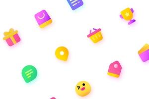 丰富多彩电子商务购物矢量一流设计素材网精选图标 Colorful Shopping, ecommerce Illustration Icons插图3