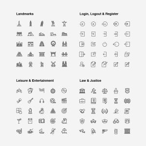 2120枚网站&APP设计师必备的矢量线性一流设计素材网精选图标集 Ultimate Icons Growing Pack插图14