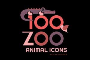 100+动物园动物矢量一流设计素材网精选图标素材包 100+ Zoo Animal Icons插图(1)