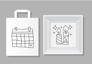20枚活动派对主题手绘设计风格矢量线性一流设计素材网精选图标 Lets Party Outline Icons Set插图(2)