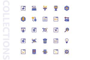 25枚SEO搜索引擎优化营销矢量填充一流设计素材网精选图标v2 SEO Marketing Filled Icons插图4