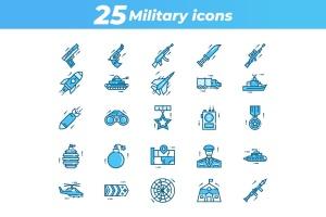 25枚军事主题矢量一流设计素材网精选图标 25 Military Icons插图2