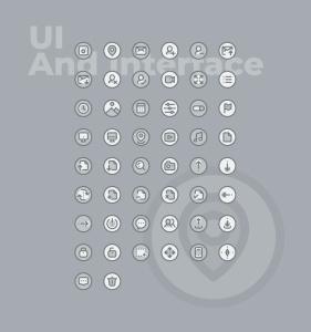 50枚UI用户界面主题双色调矢量一流设计素材网精选图标 50 UI And Interface Icons  –  Two Tone Style插图2