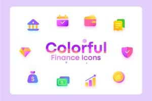 金融/钱包/银行主题彩色矢量一流设计素材网精选图标 Colorful Finance, wallet, bank, Illustration Icons插图1