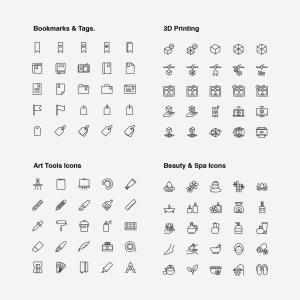 2120枚网站&APP设计师必备的矢量线性一流设计素材网精选图标集 Ultimate Icons Growing Pack插图3