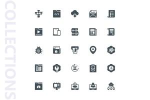 25枚SEO搜索引擎优化营销矢量字体一流设计素材网精选图标v1 SEO Marketing Glyph Icons插图4