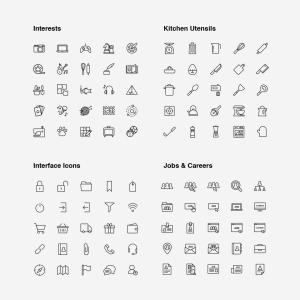 2120枚网站&APP设计师必备的矢量线性一流设计素材网精选图标集 Ultimate Icons Growing Pack插图15