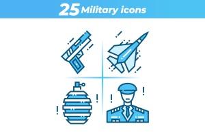 25枚军事主题矢量一流设计素材网精选图标 25 Military Icons插图1