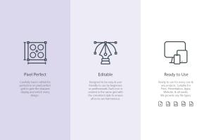 25枚SEO搜索引擎优化营销矢量线性一流设计素材网精选图标v1 SEO Marketing Line Icons插图(3)
