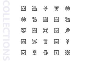 25枚SEO搜索引擎优化营销矢量阴影一流设计素材网精选图标v2 SEO Marketing Shady Icons插图4