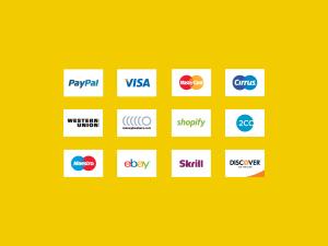 信用卡支付方式矢量线性一流设计素材网精选图标 Credit Card Payment Icons插图1