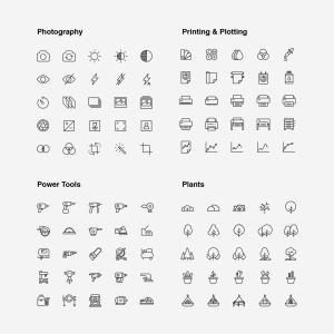 2120枚网站&APP设计师必备的矢量线性一流设计素材网精选图标集 Ultimate Icons Growing Pack插图11