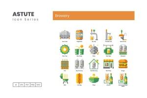 Astute系列-70枚啤酒主题矢量一流设计素材网精选图标 Brewery Icons – Astute Series插图3